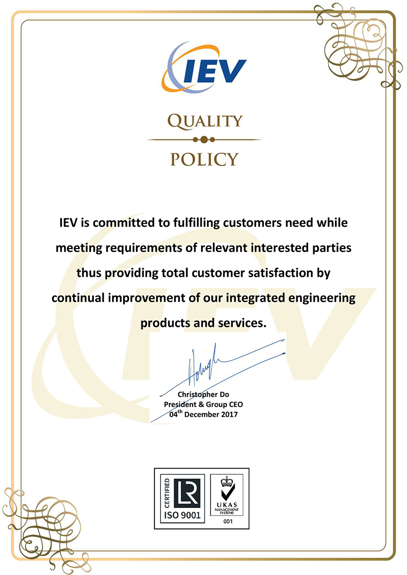 IEV Quality Policy